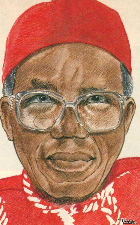 Chinua Achebe 1930-2013 by Taylo Fatunla, Nigeria:UK